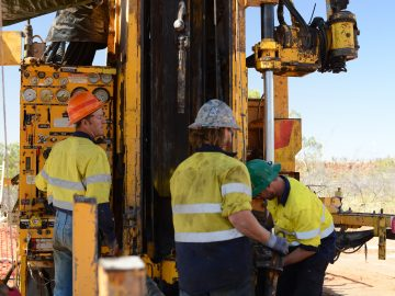 Exploration drilling at the Nicholson Project